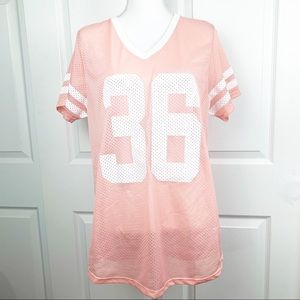 Zara Trafaluc Honolulu Pink Jersey Top
